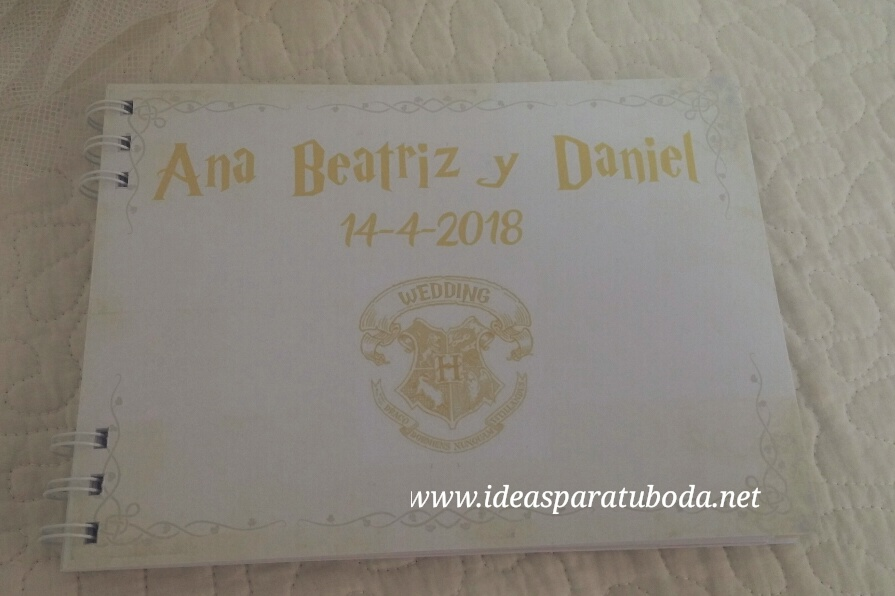 agenda boda harry potter portada