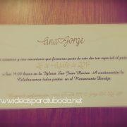 invitación boda romántico