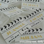 tarjetas de agradecimiento claquetas