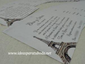 Invitación Boda París