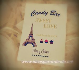 cartel lamina candy bar paris