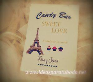 cartel lamina candy bar paris
