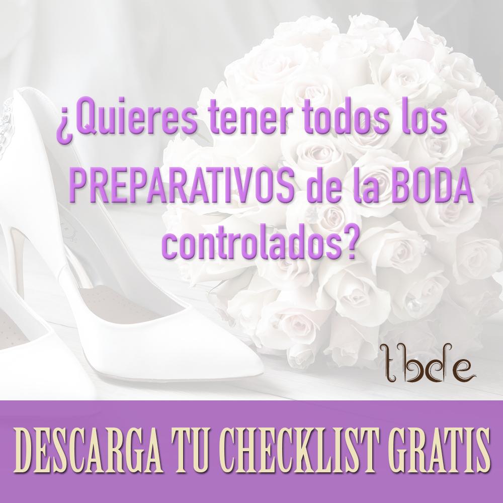 Descárgate gratis nuestra checklist para bodas