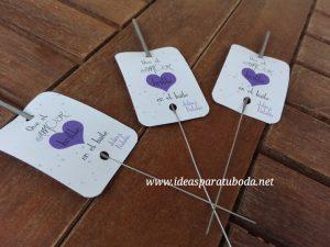 tarjetas bengalas boda corazon