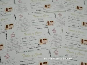 invitación boda viajes