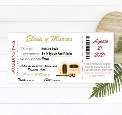invitacion boda caravana viajes
