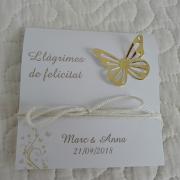estuches felicidad lagrimas mariposa dorada