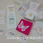 Invitación Comunión modelo caja conjunto