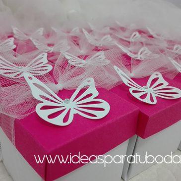 invitación comunión caja mariposa detalle