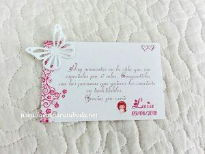 tarjeta agradecimiento comunion mariposa primavera2