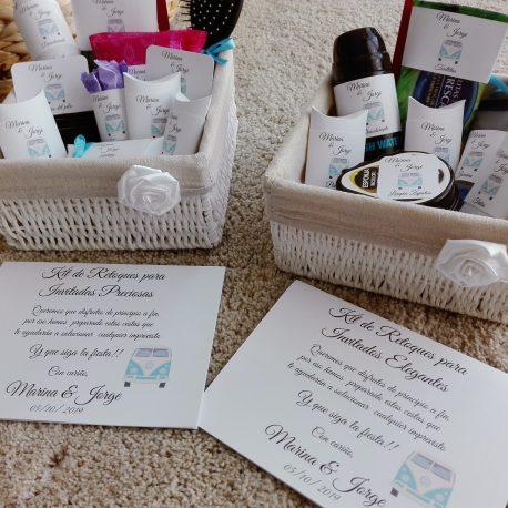 pack cesta baño boda carteles