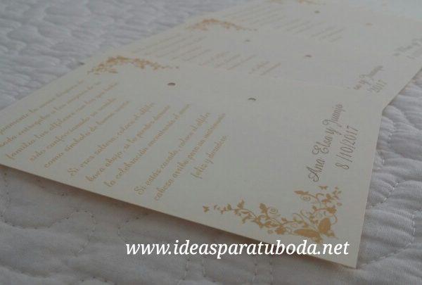 tarjeta alfiler boda