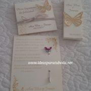 tarjeta alfiler boda conjunto