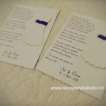 tarjeta alfiler boda historia