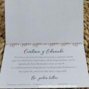 Invitación de Boda París modelo doblado interior