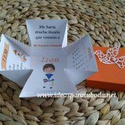 Invitación COMUNIÓN naranja INTERIOR