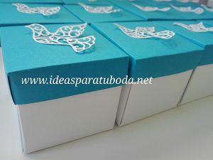nInvitación Comunión Caja Azul