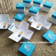 invitacion caja comunion azul blond 1
