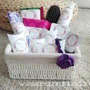cesta baño chicas flores boda cestibaño