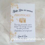 cartel photocall dorado boda