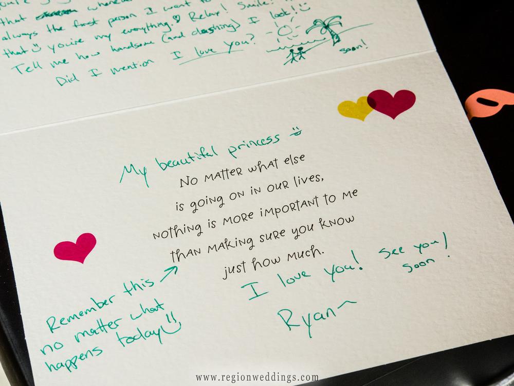 nota de amor personalizada novios boda