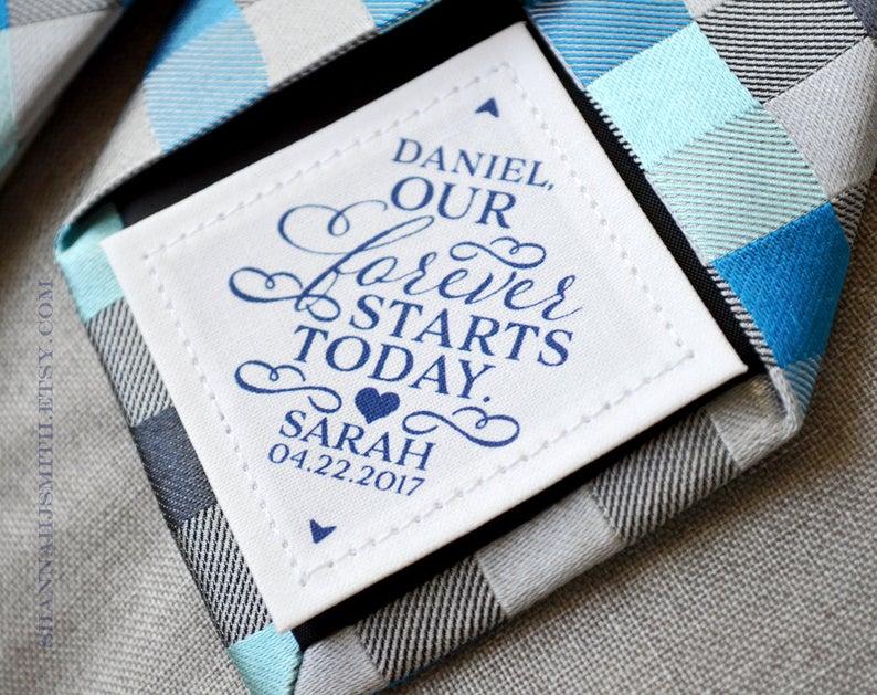 regalo para el novio el día de la boda nota de amor
