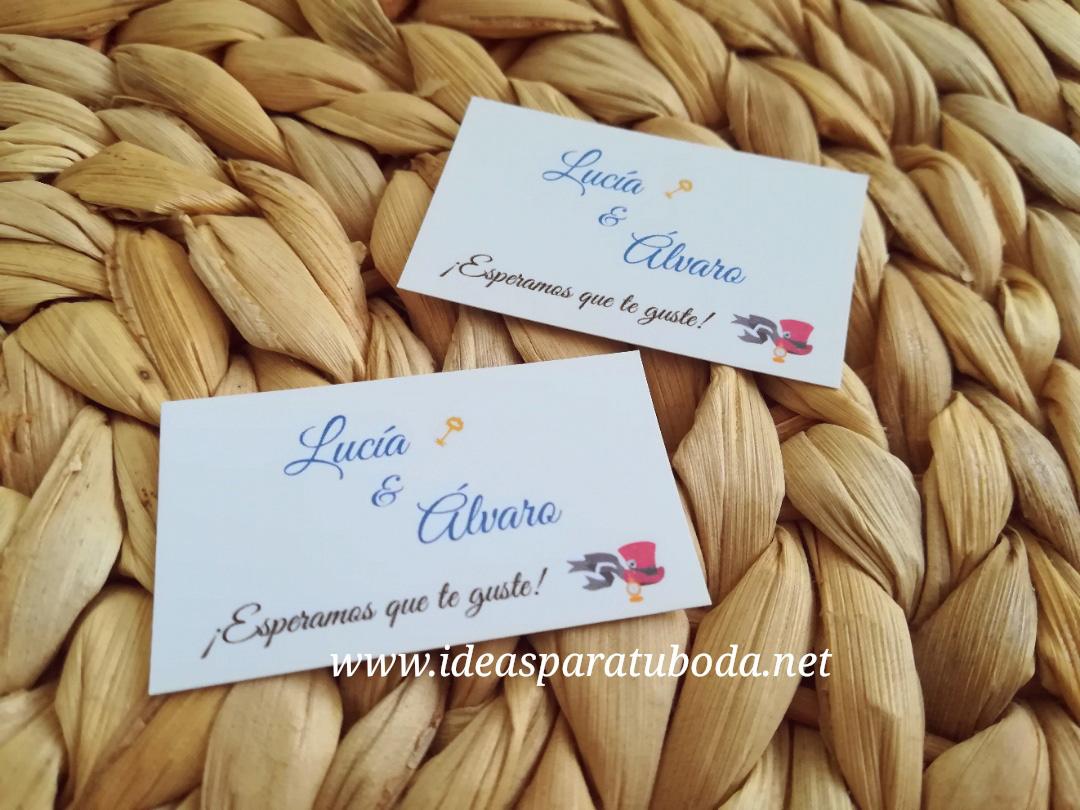 tarjeta regalo detalles boda alicia en el pais de las maravillas