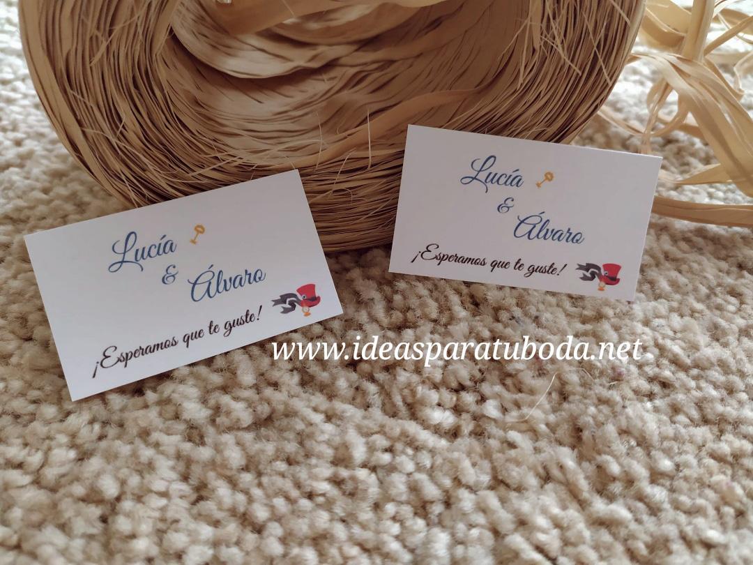 tarjetas regalo boda alicia pais maravillas