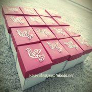 invitacion caja comunion roja paloma decorativa