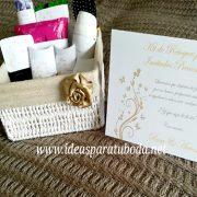 cestas baño boda gold luxe